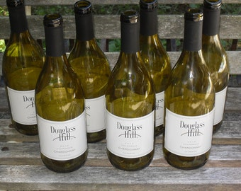 Set of 12 green wine bottles for crafts