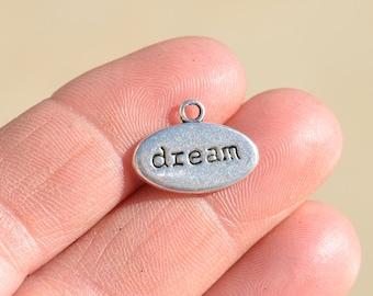 10  Silver DREAM Charms SC1633