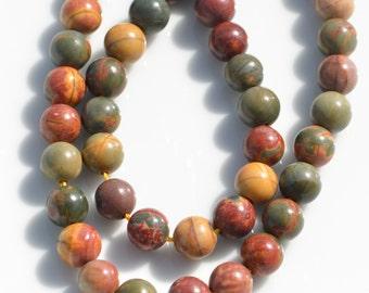 12 Picasso Jasper  Round 8mm Beads  BD769