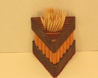 Toothpick Holder Triangular Shaped Handmade