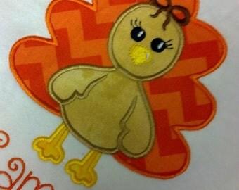 Boutique Custom Personalized Turkey Girls Shirt Thanksgiving