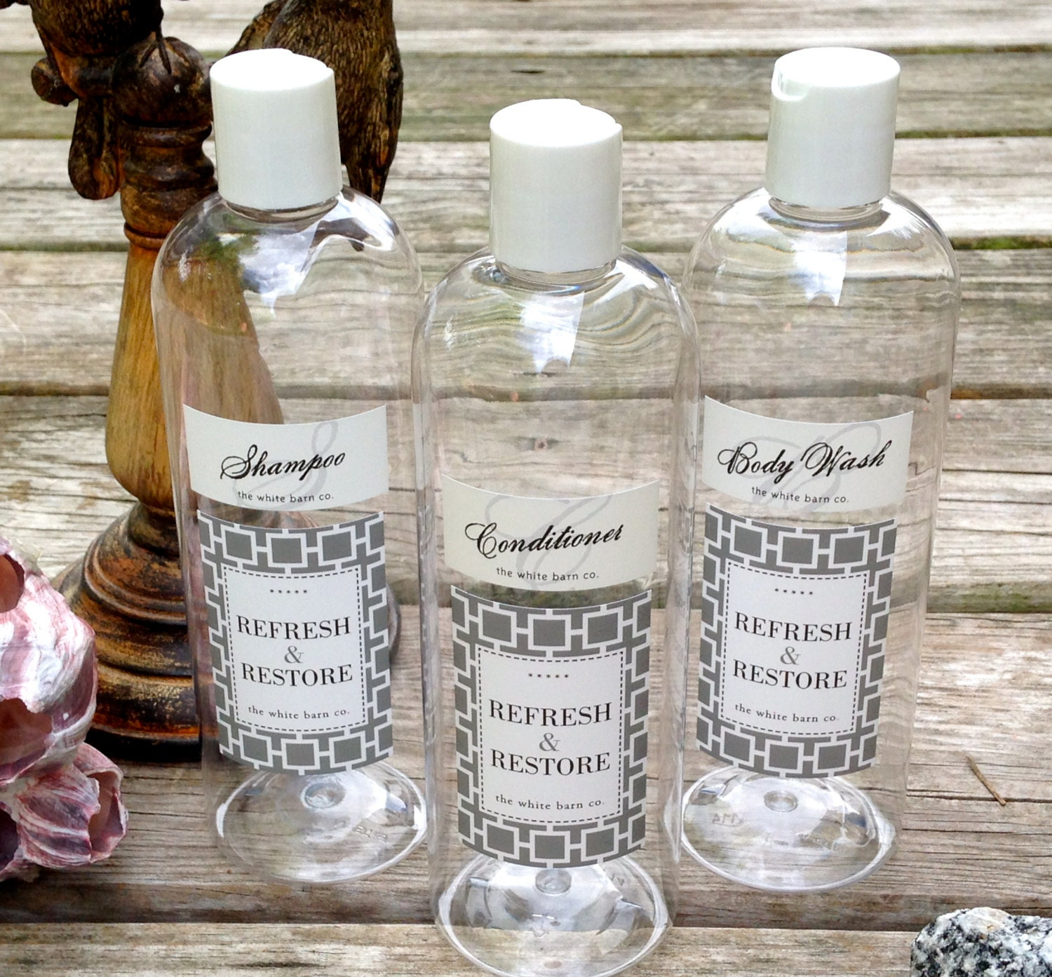 Decorative soap dispenser bottles set of 3 guest by for Decorative vials