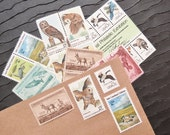 Wildlife .. UNused Vintage Postage Stamps  .. post 10 letters