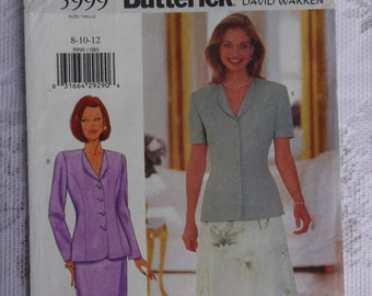 Butterick 5999 Sewing Pattern Misses' Misses's Petite Jacket & Skirt  Sizes 8, 10, 12