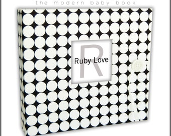 BABY BOOK | Black and White Dotty Album - Ruby Love Modern Baby Memory Book