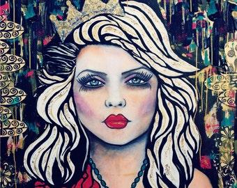 Punk Rock Baby Debbie Harry Blondie print