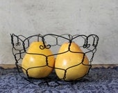 Hearts Inspired Wire Table Basket Bowl