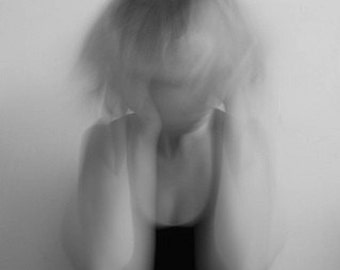 Mental Illness Self-Portrait photo - 10x8 - mental health, depression, anxiety, disorder, crazy, madness, mad