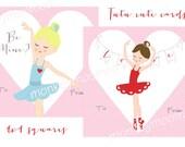 Printable Ballerina Cards
