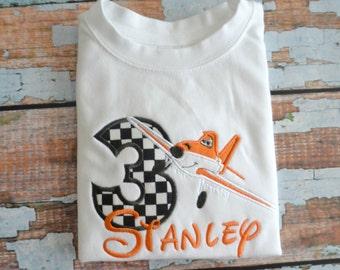 Planes Birthday Shirt, Airplane Birthday Shirt, Boys Birthday Shirt, Dusty Birthday Shirt