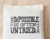 Motivational Balsam Sachet, The Impossible Is Often The Untried, Going Away Gift for Best Friend