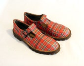 RESERVED - 80's plaid mary janes Dr Martens