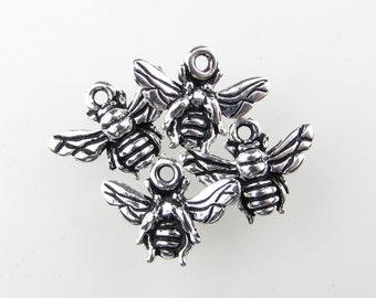 TierraCast Antiqued Silver Ox Bee Charm Honeybee Bug Drop 16mm chm0296 (4)