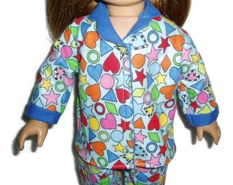 Fun Shapes Pajamas PJs Fits American Girl Dolls 18 inch Doll Clothes Item 236