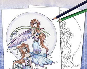 Fairy Coloring Book #4 by Amy Brown