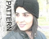 Knitting PATTERN  PDF DIY Digital  ear warmer headband Pattern   Instant Download   Turban   Headband   Brioche Stitche Headband   pattern