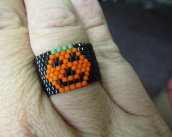 PDF Peyote Stitch Pumpkin Ring Bead Weaving Tutorial (Instant Download)