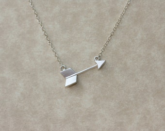 Arrow Silver Dainty Necklace, Fashion Jewelry, Fashion Trend, Modern Necklace, Summer Jewelry, For the Summer, Silver Necklace, Gifts