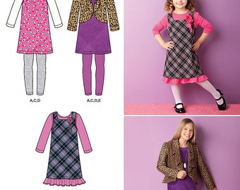 Five Back to School Garments for Girls - Simplicity 2156 - New Sewing Pattern, Sizes  7, 8, 10, 12, and 14