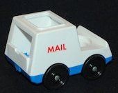 fisher price mAIN sTREET 2500 little people MAIL TRUCK