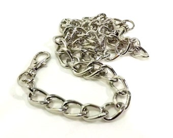 44 Inch Bevel Cut Nickel Purse Chain Swivel Clasps  Free U.S. Shipping