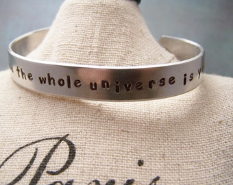 Rumi Cuff Bracelet. Shine Like the whole universe is yours. Be yourself. Be you . Be free