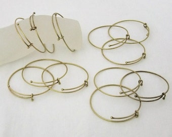 Antique Brass Expandable Bracelets 2.5 To 3 Inch 12 Pack SALE