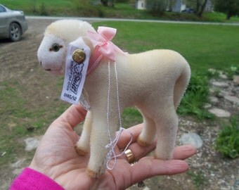 SALE - Sweet Limited Edition 1986 Steiff Lamb With Button In Ear and Original Tag from Rustysecrets