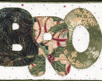Merry Christmas Bro, A Quilted Fabric Postcard