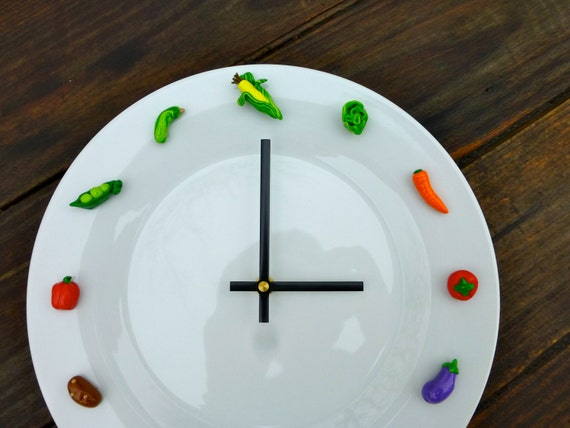 Vegetable Clock Kitchen Wall Clock Unique Clock Wall By