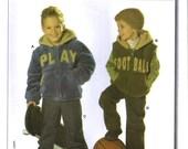 Boys Jacket Winter Coat Vest  Pants Uncut Pattern Burda 9621 Sizes 3 to 8