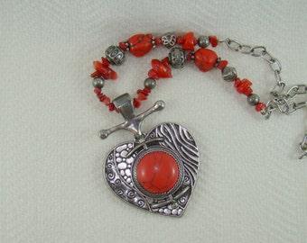 You & I Necklace Quality Handmade Reversable Pendant So Aggressive Designer Signed