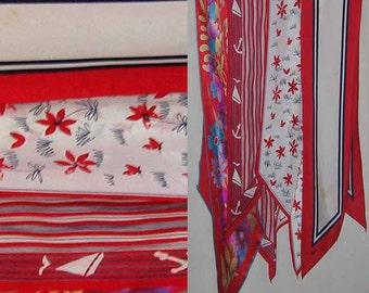 Vera Four Long and Narrow Silk Scarves