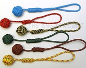 "550 Paracord Monkey Fist  Keychain - 3/4"" Steel Ball Bearing Core - You Choose The Color"