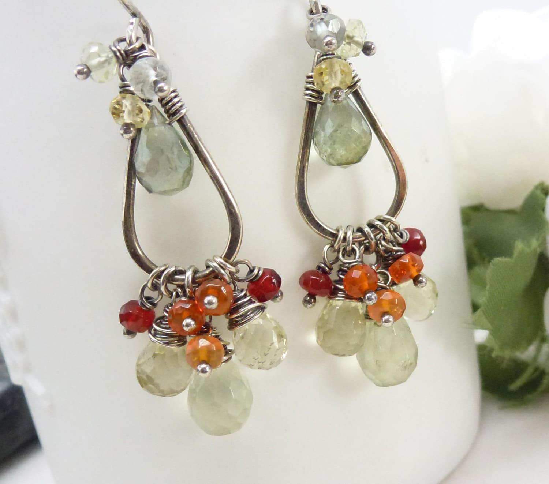 Aliexpress.com : Buy Gem Water Drop Earrings For Women ... |Light Yellow Gemstone Earrings