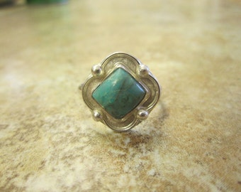 Sterling Silver Turquoise Ring - Size 9 1/2