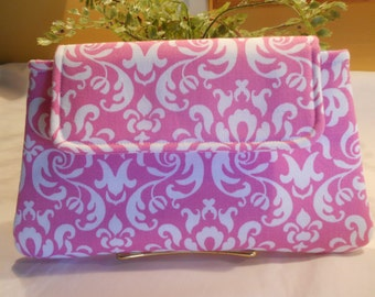 "The ""Sassy"" Cotton CLUTCH.....Perfect for Bridesmaids"