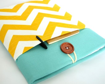 iPad Case, iPad Sleeve, iPad 1, iPad 2, iPad 3, iPad 4, new iPad Air Case - Yellow Chevron