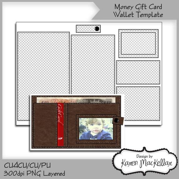 cu4cu money wallet gift card template instant by karenscraftybits. Black Bedroom Furniture Sets. Home Design Ideas