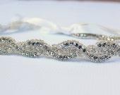 Rhinestone headband, Weddings, Bridal Accessories, bridal headband, headband, crystal headband, headpiece, bridal accessories - DELILAH