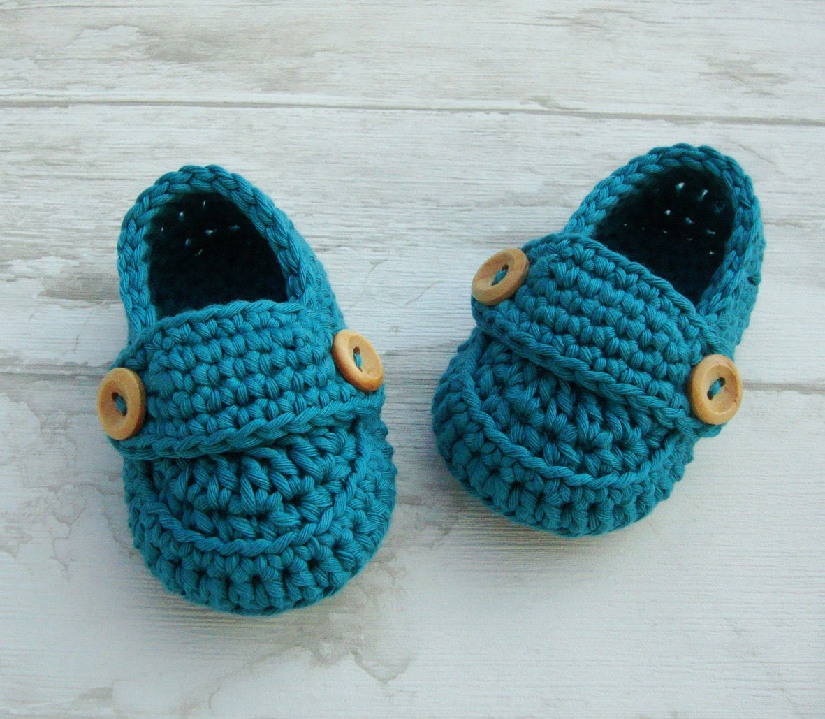 Crochet Baby boy booties loafers baby shoes in by Bywoolala
