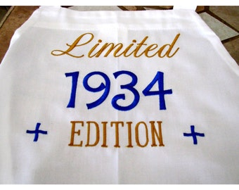 Men's Embroidered Apron Can Be Personalized