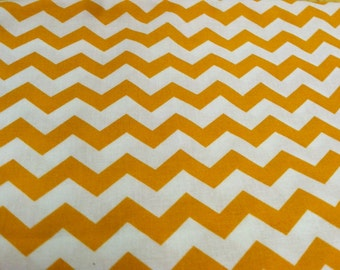 Chevron print fabric gold