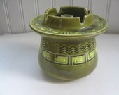 Vintage Ashtray Vase Japan Nippon Yoko Avocado Green