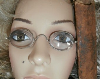 Antique 1800's Steel Straight Temple Spectacles Eyeglasses