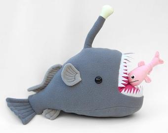 Anglerfish etsy for Angler fish toy