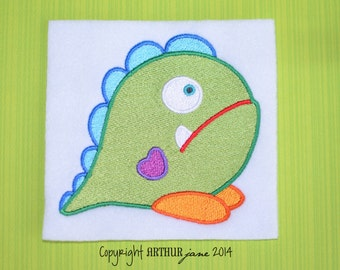Monster 1, INSTANT DOWNLOAD, Embroidery Design for Machine Embroidery 4x4