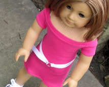 Handmade Doll Clothes Fits 18 Inch Doll Boatneck Raglan Tee Shirt Dress