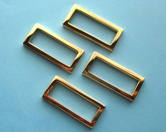 D-Rings Rectangular 24K Gold Plated 1 1/2 Inch Set of 4
