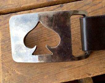 Spade Rectangle Belt Buckle by WATTO Distinctive Metal Wear
